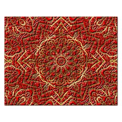Red Tile Background Image Pattern Rectangular Jigsaw Puzzl