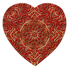 Red Tile Background Image Pattern Jigsaw Puzzle (Heart)