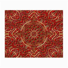 Red Tile Background Image Pattern Small Glasses Cloth