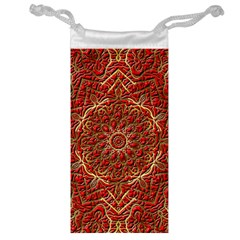 Red Tile Background Image Pattern Jewelry Bag