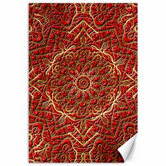 Red Tile Background Image Pattern Canvas 12  X 18