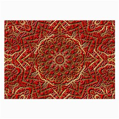 Red Tile Background Image Pattern Large Glasses Cloth