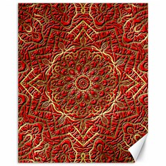 Red Tile Background Image Pattern Canvas 11  X 14