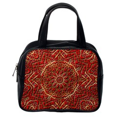 Red Tile Background Image Pattern Classic Handbags (One Side)