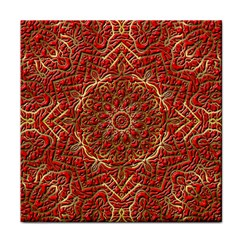 Red Tile Background Image Pattern Face Towel