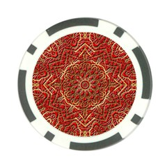 Red Tile Background Image Pattern Poker Chip Card Guard (10 pack)