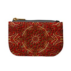 Red Tile Background Image Pattern Mini Coin Purses