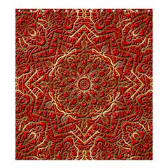Red Tile Background Image Pattern Shower Curtain 66  x 72  (Large)