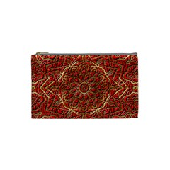 Red Tile Background Image Pattern Cosmetic Bag (Small)