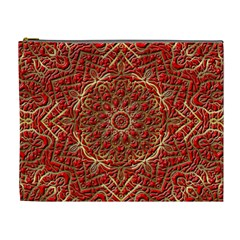 Red Tile Background Image Pattern Cosmetic Bag (xl)
