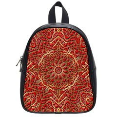 Red Tile Background Image Pattern School Bags (Small)