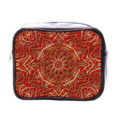 Red Tile Background Image Pattern Mini Toiletries Bags
