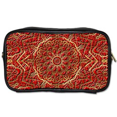 Red Tile Background Image Pattern Toiletries Bags 2-Side