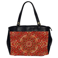 Red Tile Background Image Pattern Office Handbags (2 Sides)