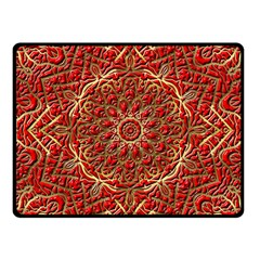 Red Tile Background Image Pattern Fleece Blanket (small)
