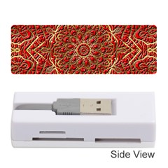 Red Tile Background Image Pattern Memory Card Reader (Stick)