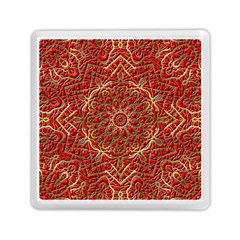Red Tile Background Image Pattern Memory Card Reader (Square)