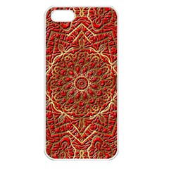 Red Tile Background Image Pattern Apple Iphone 5 Seamless Case (white)