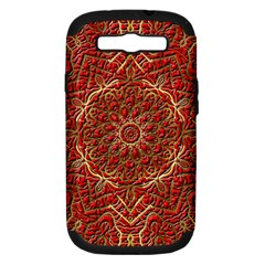 Red Tile Background Image Pattern Samsung Galaxy S Iii Hardshell Case (pc+silicone)