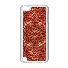 Red Tile Background Image Pattern Apple Ipod Touch 5 Case (white)