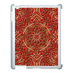 Red Tile Background Image Pattern Apple Ipad 3/4 Case (white)
