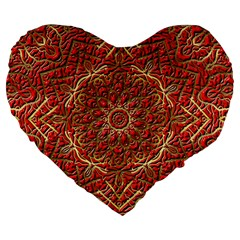Red Tile Background Image Pattern Large 19  Premium Heart Shape Cushions
