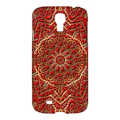Red Tile Background Image Pattern Samsung Galaxy S4 I9500/i9505 Hardshell Case