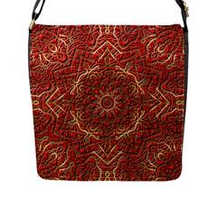 Red Tile Background Image Pattern Flap Messenger Bag (l)