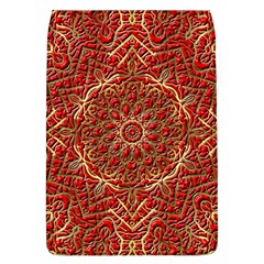Red Tile Background Image Pattern Flap Covers (L)