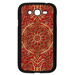 Red Tile Background Image Pattern Samsung Galaxy Grand DUOS I9082 Case (Black)