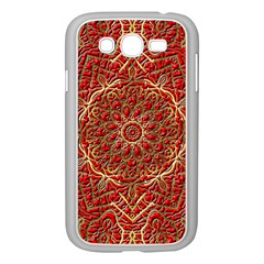 Red Tile Background Image Pattern Samsung Galaxy Grand Duos I9082 Case (white)