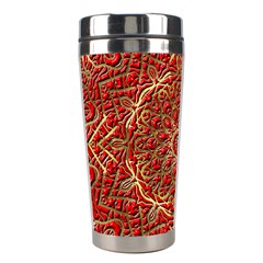 Red Tile Background Image Pattern Stainless Steel Travel Tumblers
