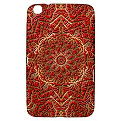 Red Tile Background Image Pattern Samsung Galaxy Tab 3 (8 ) T3100 Hardshell Case