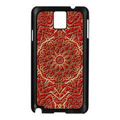Red Tile Background Image Pattern Samsung Galaxy Note 3 N9005 Case (black)