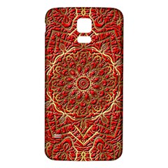 Red Tile Background Image Pattern Samsung Galaxy S5 Back Case (white)