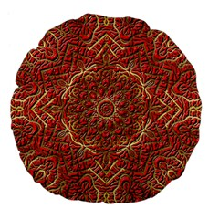 Red Tile Background Image Pattern Large 18  Premium Flano Round Cushions