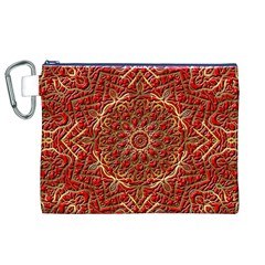 Red Tile Background Image Pattern Canvas Cosmetic Bag (xl)