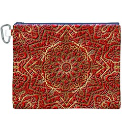 Red Tile Background Image Pattern Canvas Cosmetic Bag (xxxl)