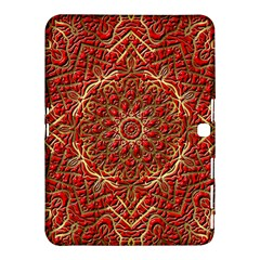 Red Tile Background Image Pattern Samsung Galaxy Tab 4 (10 1 ) Hardshell Case