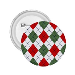 Red Green White Argyle Navy 2.25  Buttons