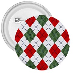 Red Green White Argyle Navy 3  Buttons