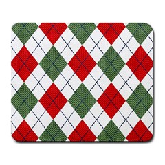 Red Green White Argyle Navy Large Mousepads