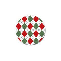 Red Green White Argyle Navy Golf Ball Marker