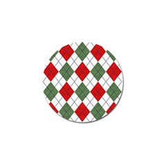 Red Green White Argyle Navy Golf Ball Marker (4 Pack)