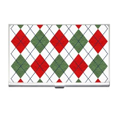 Red Green White Argyle Navy Business Card Holders