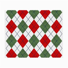 Red Green White Argyle Navy Small Glasses Cloth