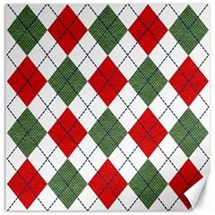 Red Green White Argyle Navy Canvas 20  X 20