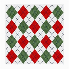 Red Green White Argyle Navy Medium Glasses Cloth (2-Side)