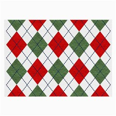 Red Green White Argyle Navy Large Glasses Cloth (2-Side)