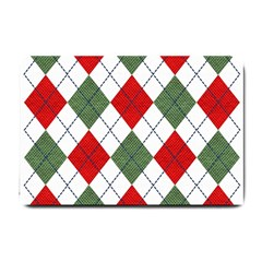 Red Green White Argyle Navy Small Doormat
